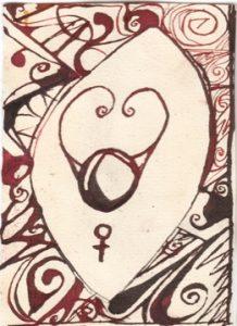 Stier: Kalligraphie von Martin Sebastian Moritz