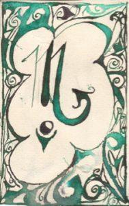 Skorpion: Kalligraphie von Martin Sebastian Moritz