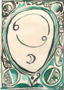 Krebs: Kalligraphie von Martin Sebastian Moritz