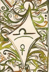 Waage: Kalligraphie von Martin Sebastian Moritz