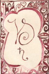 Steinbock: Kalligraphie von Martin Sebastian Moritz