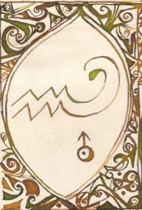 Wassermann: Kalligraphie von Martin Sebastian Moritz
