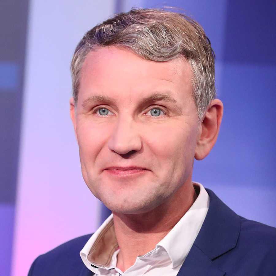 Sandro Halank Wahlabend Thüringen: Björn Höcke (AfD))